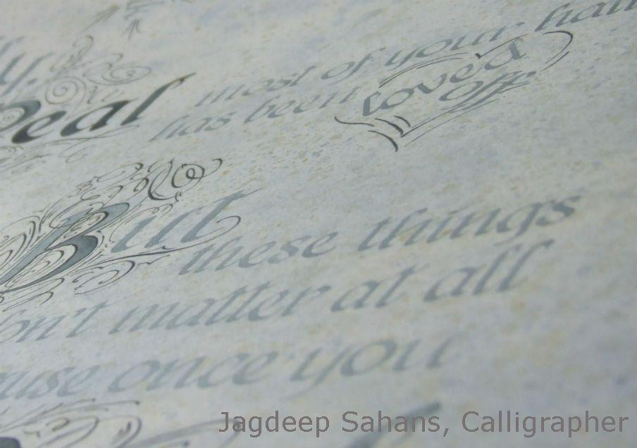 Velveteen Rabbit, Artist Calligraphy