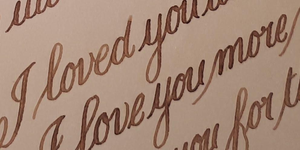 Love Letter. Handwritten.  Soulscribe Calligraphy