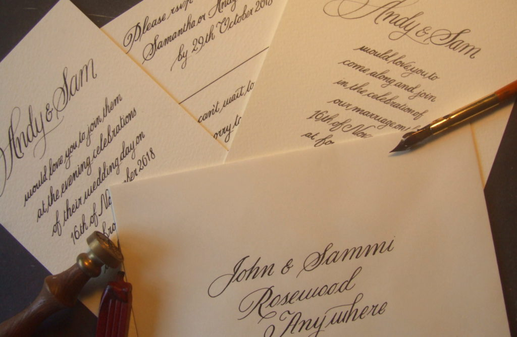 Wedding Invitation Set SoulScribe Calligraphy