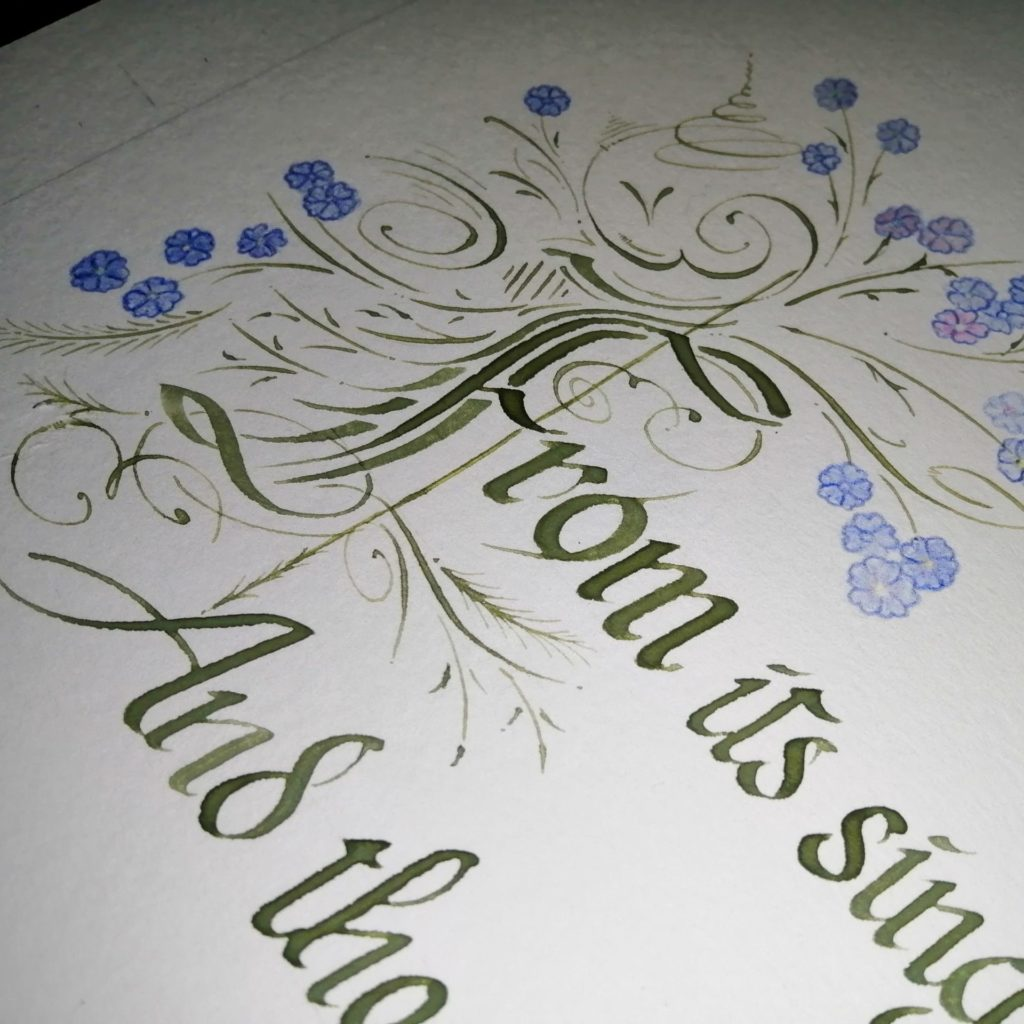 This shock of flowers-forgetmenots-Soulscribe Calligraphy