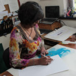 Calligrapher, Jagdeep Sahans. SoulScribe Calligraphy. Ireland