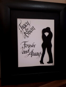 Tracy and Brian. Engagement Gift